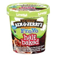 Ben & Jerry's FroYo Low-Fat Half Baked Frozen Yogurt 16 oz