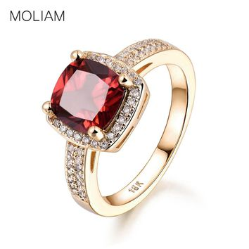 MOLIAM Rings for Women 2017 New Fashion Red/Light Blue Crystal Cubic Zirconia Engagement Ring Jewelry Accessories MLR346/MLR347
