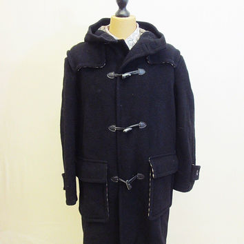 Vintage 70s AMAZING Augustus Rex Duffel Duffle Lined Winter Coat XL-Tall