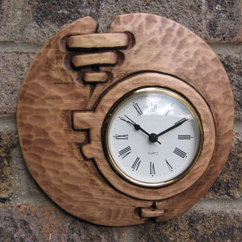 Wall Art,Wood carving,''modern'' wall clock,handmade,gift,Art4U-in stock