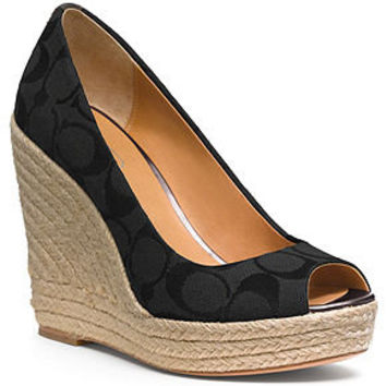 ac570464ee2 COACH MILAN WEDGE - Espadrilles & Wedges - Shoes - Macy's