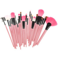 [BIG SALE] on 24 Piece Naked Makeup Brush Set (Pink) Free Shipping
