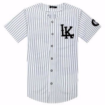 Kanye West New 07 Last Kings Baseball T-shirt Jersey Trend Fashion Hip Hop Men Women Clothes tyga last kings Clothing