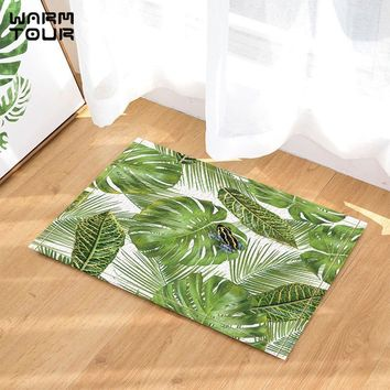 Autumn Fall welcome door mat doormat Warm Tour Tropical Hawaiian Exotic Plants  Home Decor Indoor Outdoor Entrance  Rubber Backing Bathroom Accessorie AT_76_7