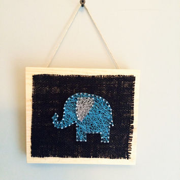 Elephant wall or shelf decor for home or nursery!