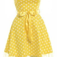 1960'S Polka Dot  Net Dress