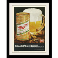 "1970 Miller High Life Beer Ad ""Deep Down Good"" Vintage Advertisement Print"