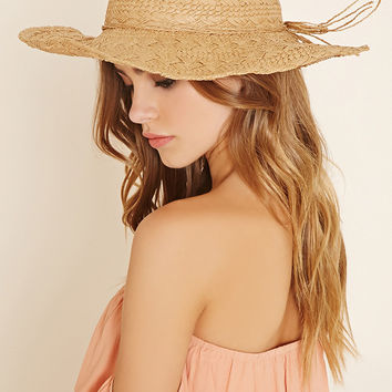 Wired Straw Floppy Hat