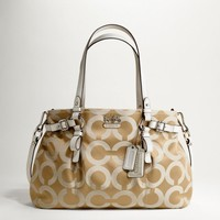 # Coach Madison Op Art Sateen Carryall Bag F17688 (Light Khaki/Parchme)
