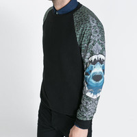 SWEATER WITH PRINTED SLEEVES - T - shirts - Man   ZARA United States
