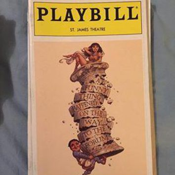 A Funny Thing Happened On The Way To The Forum Playbill
