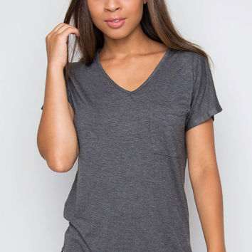 Nina Basic Top - Gray