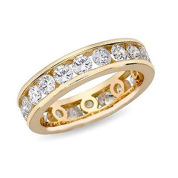 2 ct. tw. Channel Set Diamond Eternity Band Ring 14K Yellow Gold