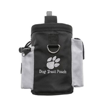 Treat pouch with detachable feed pocket