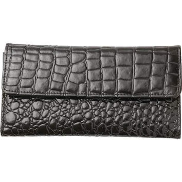 LADIES FAUX LEATHER ALLIGATOR EMBOSSED WALLET