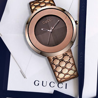 Gucci watches men's and women's fashion watches B-CTZL Gold