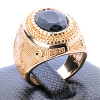 Fashion Casual Women Ring Vintage Jewelry Girls Ring Unique Punk Noble Vampire Men Gold Ring Best Christmas Gift Rings-47