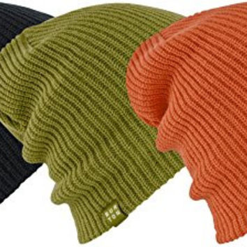 Burton DND 3 Pack (Black/Algae/Maui Sunset) Beanies