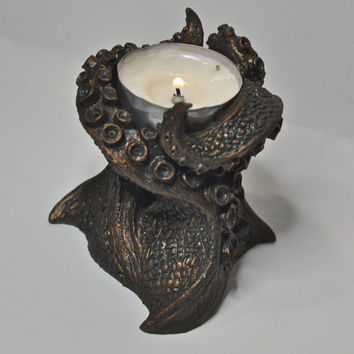 Kraken Tentacles Tealight Holder by Dellamorteco on Etsy