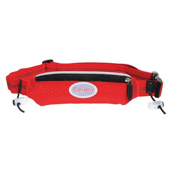 FuelBelt Helium Super-Stretch Race Waistpack, Black/Rush Red