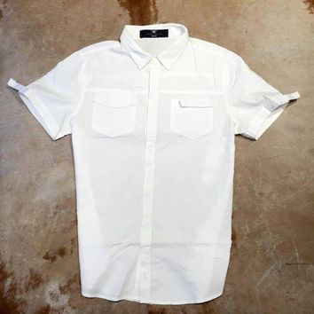 DCKL9 Jordan Craig Velcro Strap Button Down Shirt