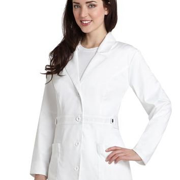 Buy Adar Pop-Stretch Junior Fit Women's 28 Inch Tab-Waist Lab Coat for $27.95