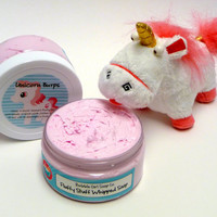 Unicorn Burps Candy Scented Whipped Soap In A Jar 8 Oz Fluffy Stuff Whipped Soap