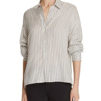 Vince Menswear Stripe Silk Shirt | Bloomingdales's