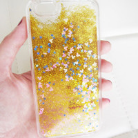 iPhone 6 case clear liquid glitter hipster iridescent mouse geometric sequins floating liquid waterfall quicksand phone case trend US seller