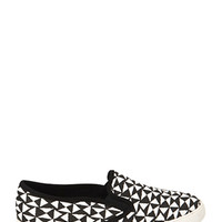 Abstract Canvas Slip-Ons