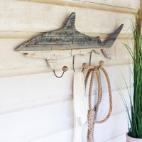 Rustic Shark Coat Rack