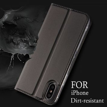 Luxury Leather Flip Case Card Holder Stand Wallet Book Cover for iPhone X 8 7 6 6s Plus Phone Cases Hoesje Coque