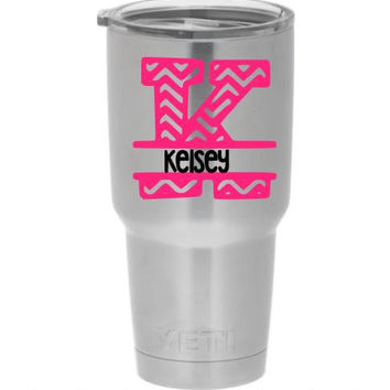 Yeti Custom Decal Yeti Rambler Custom Decal Monogram Decal Personalized Yeti Custom Yeti Cup Monogram Cup Personalized Cup