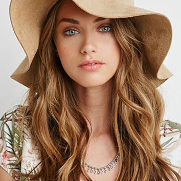Faux Suede Floppy Hat