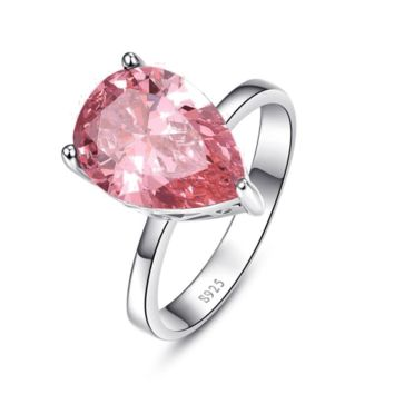 Persian Pink Pear 8.5CT Pink Topaz IOBI Precious Gems Ring