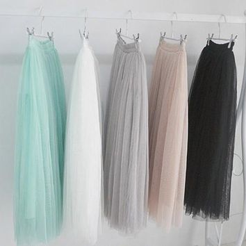NEW Fashion freeshipping ankle-length lace skirt solid color tutu sexy lady chiffon floral skirt summer fashion skirt