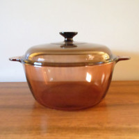 Pyrex Corning Visions Cookware, Pyrex Visions Amber Dutch Oven, Corning Visions Dutch Oven, Pyrex Dutch Oven Corning Dutch Oven Vision 4.5 L