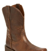 Men's Ariat 'Rambler' Square Toe Leather Cowboy Boot
