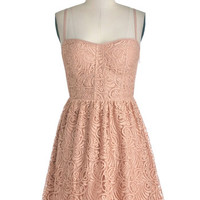 ModCloth Pastel Short Spaghetti Straps A-line Stylish Sophisticate Dress
