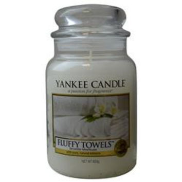YANKEE CANDLE FLUFFY TOWELS SCENTED LARGE JAR 22 OZ UNISEX