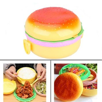 Burger Boxes Double Plastic Insulation Box Lunch Box Lunch Box Kawaii Bento Box