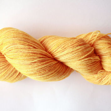 Goldenrod - Sock/Fingering Merino-Silk Blend Hand-Dyed Yarn - 100g, 440yds