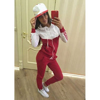 Casual Sports Set Women's Tracksuits Long Sleeve = 5709350337