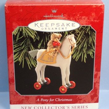 1998 A Pony For Christmas Hallmark Retired Series Ornament