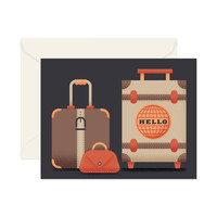 """Hello"" Stitched Luggage Card"