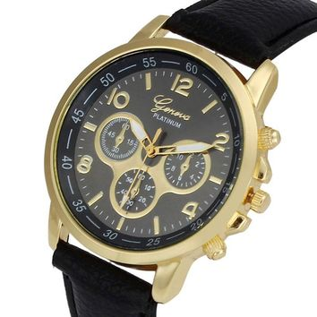 wristwatch men watches leather strap Clock Quartz Analog Clock men watches 2017 luxury brand Relojes mujer #0504