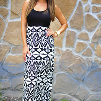 Straight To The Point Maxi Dress: Black | Hope's