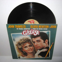 Vinyl Record Grease Original Soundtrack Double LP 1978 Musical Classic Olivia Newton-John John Travolta