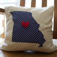 Missouri Pillow - Housewarming State Pillow - State Pillow - Housewarming Gift