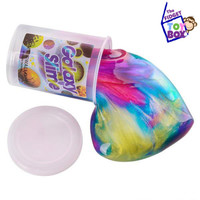 Colorful galaxy slime putty